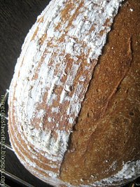 Bread with raisin's natural yeast