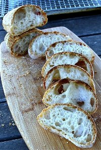 Ciabatta Using Wild Yeast Starter