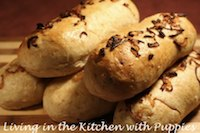 Onion Wheat Submarine Rolls