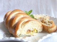 Stuffed Masala Braided Bread