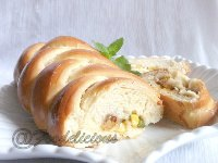 Stuffed Masala Braided Bread