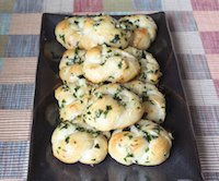 Parsley and Garlic Knots