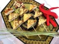 Satay Pizza Bites