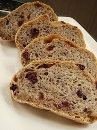 Cranberry Semolina Bread with Walnuts