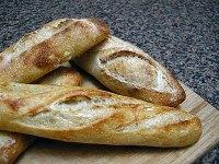 36 hour sourdough  baguettes