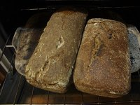 Wholemeal loaves with cooked wheat
