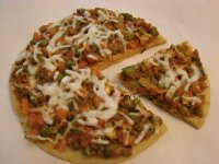 Veggie Garam Masala Pizza  with Whole Wheat Base