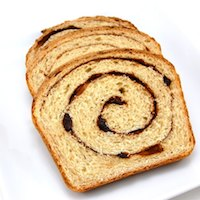 Raisin Cinnamon Swirl Bread