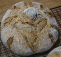 Pumpkin seed sourdough bread