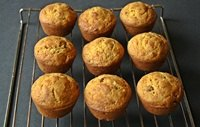 Sourdough Pumpkin Cranberry Muffins