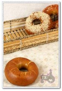 sourdough lye bagels with filling