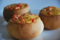 Buns with cheddar and pepper