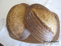 Pain au levain with whole wheat flour