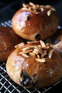 Chocamandes, Almond & Chocolate Viennese Buns