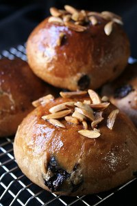 Chocamandes, Almond & Chocolate Viennese Buns