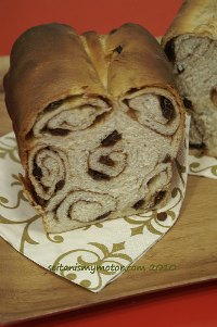Swirly Cinnamon Bread