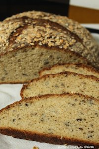 Wild rice and oat bread