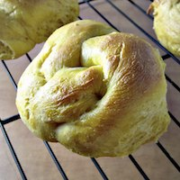 Savory Pumpkin Knot Rolls