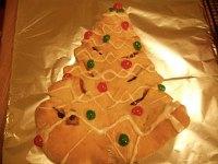 Christmas Tree Shaped Sweet Bread
