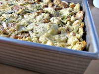 Leek Bread Pudding/Potato Chive Bread