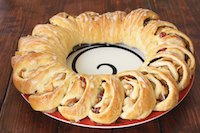 Apple Cranberry Tea Ring