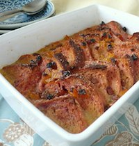 Beet Bread & Butter Pudding