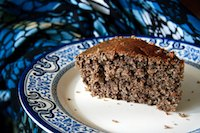 Black sesame yogurt cake
