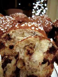 Panettone with Cherries, Chocolate and Pecans