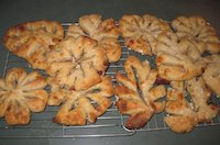 Fougasse with Pears, Bacon and Blue Cheese