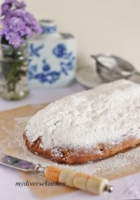 Tropical Eggless Stollen With Cashew Marzipan