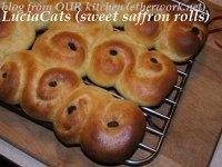 Lucia cats (sweet saffron rolls)