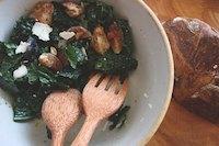 Salad Of Cavolo Nero, Figs & Sourdough Croutons