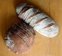 Einkorn-Rye Sourdough Bread