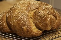Whole Grain And Emmer Challah With Apples