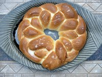 Kardemummakrans (Swedish Braided Bread)