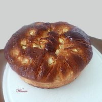 Apple Honey Challah For Rosh-Hashana