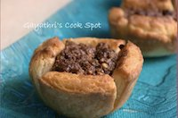 Crumbled Nutella Paneer Cups
