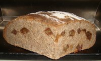 Rye-Wheat Sourdough With Chia Seeds And Dates