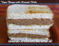 Vegan Burger With Aromatic Herbs