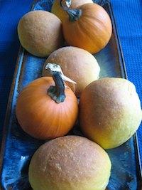 Pumpkin Brioche Rolls