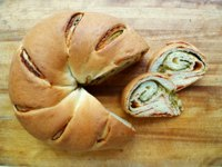 Tomato Pesto Swirl Bread