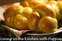 Pumpkin Knot Yeast Rolls