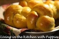 Pumpkin Knot Yeast Rolls