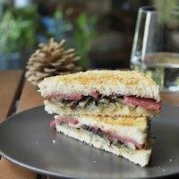 Portobello And Salami Sandwich