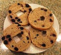 Sourdough Blueberry Bagels