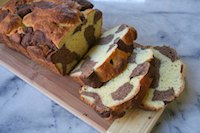 Chai Chocolate Orange Marbled Brioche Loaf