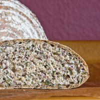 Chives Bread With Linseeds