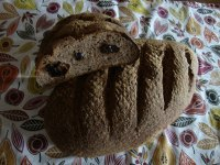 Flax Sourdough Stuffed With Dried Prunes /Figs