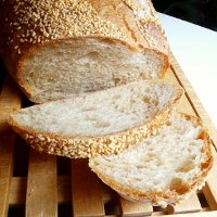 Sesame-topped Wheat Bread
