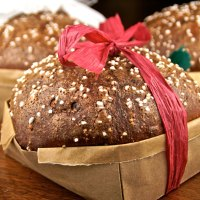 Chocolate Panettone In Origami Baskets